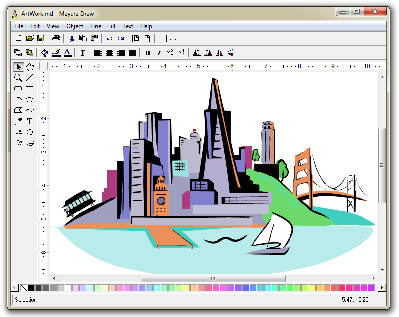 Line Drawing Software : Mayura draw vector drawing program with svg and eps export